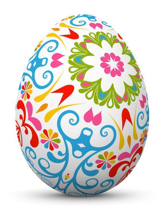 uovo di Pasqua floral decorazione