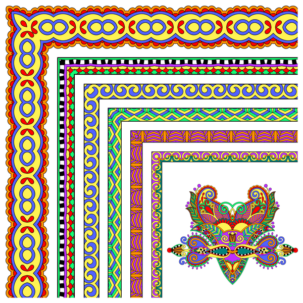 Grenze ethnische Ecke dekorative