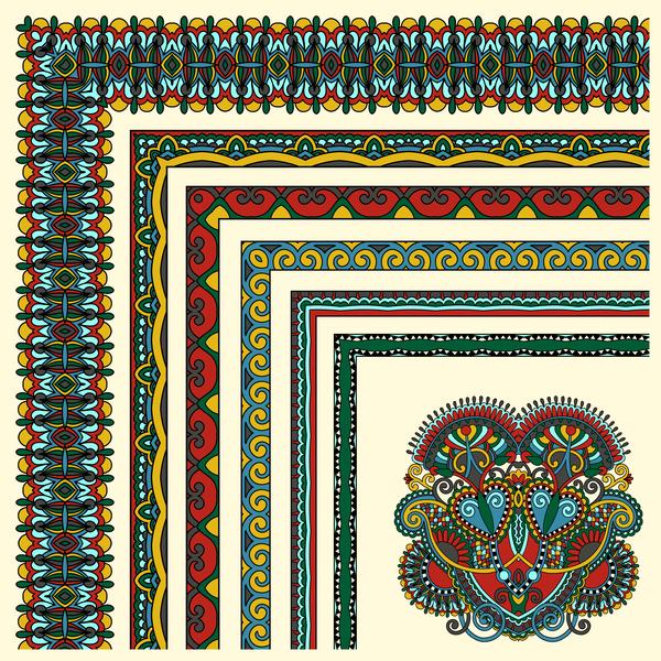 Etnico di confine decorative Angolo