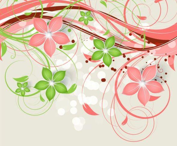 Locken dekorativ Blüte