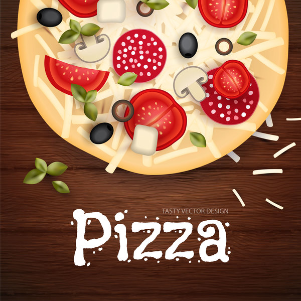 trä pizza Läcker