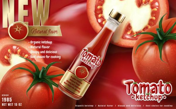 tomat ketchup delicious affisch