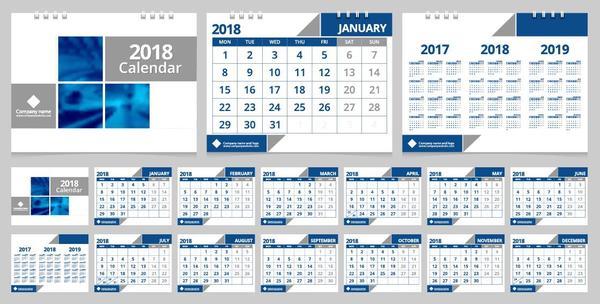 Schreibtisch Kalender 2018