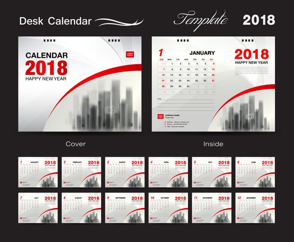 デスク カレンダー カバー 2018