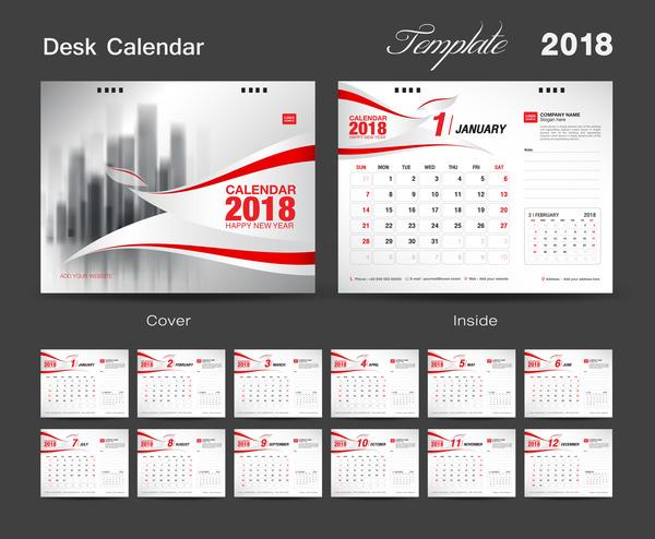 desk cover calendar 2018