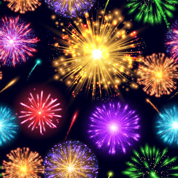 fuochi d'artificio effetto different colore