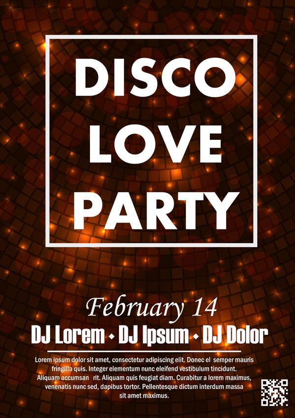 poster festa discoteca amore