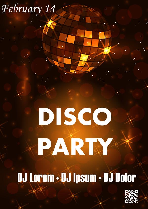 poster flyer festa discoteca