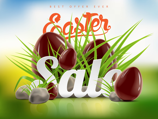 sale eggs easter chocolate advertising