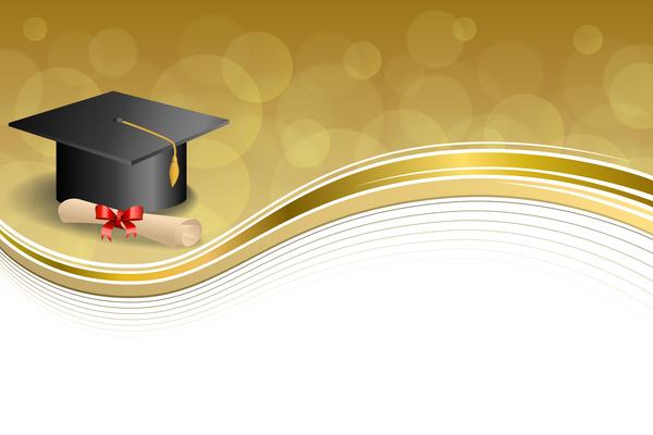 Utbildning examen Diplom cap Abstrakt