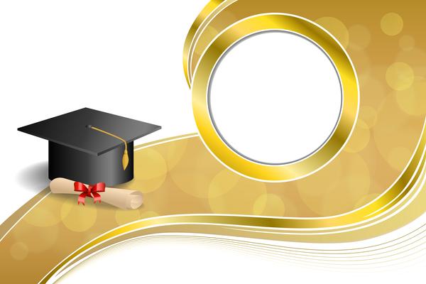 、抽象的な、キャップ、卒業証書、教育科卒業