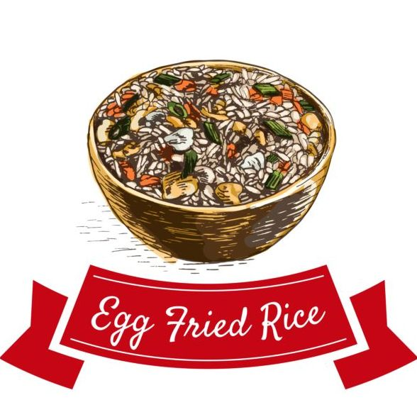 rice Fried egg Cuisine chinese