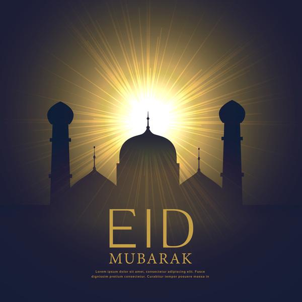 sun Mubarak ljus Eid
