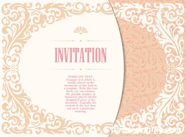 装飾 招待状 フローラル カード エレガント