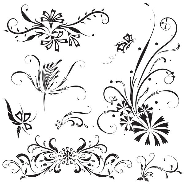ornamenti floreali Elegante