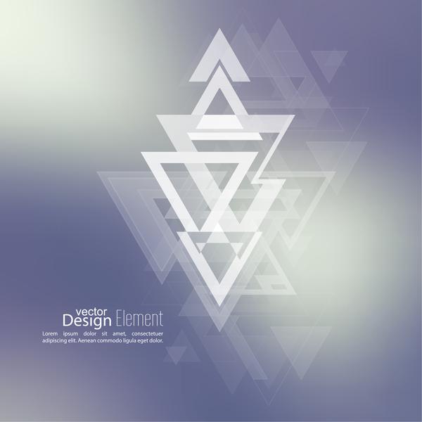 elegant Dreieck Abstrakt