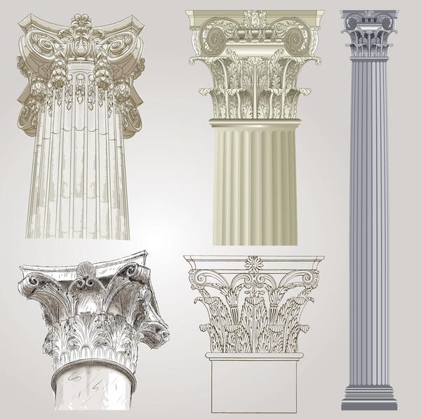 style européen colonnes architecture