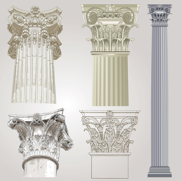 stile europeo colonne Architettura