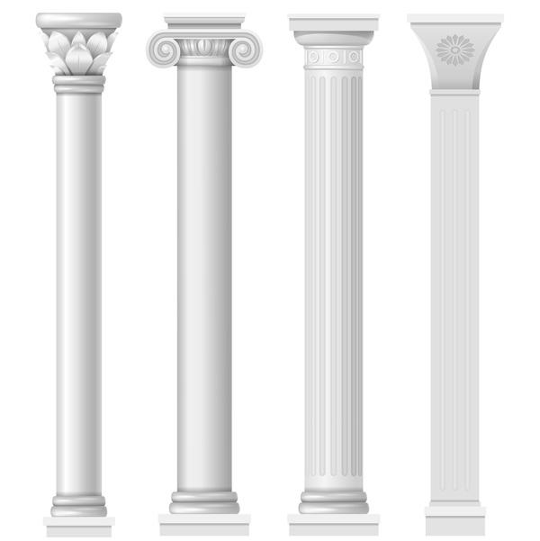Stil kolumner Europeisk Arkitektur