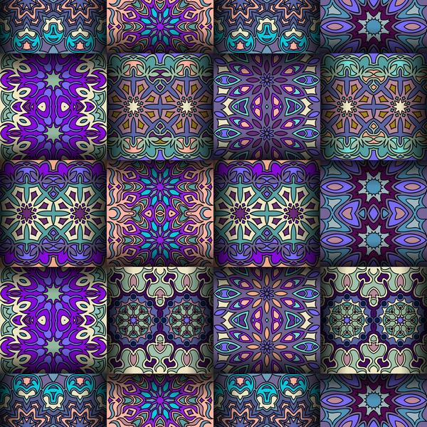 vintage tissus patrón Ethnique