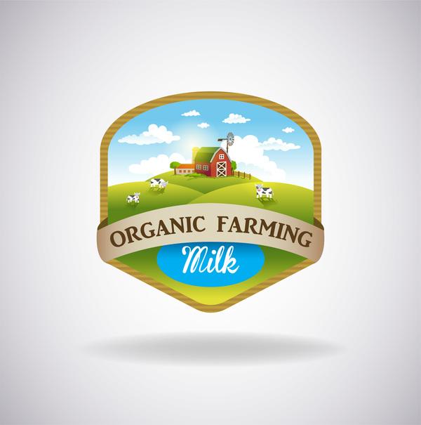 organische natürliche label Frische Bauernhof