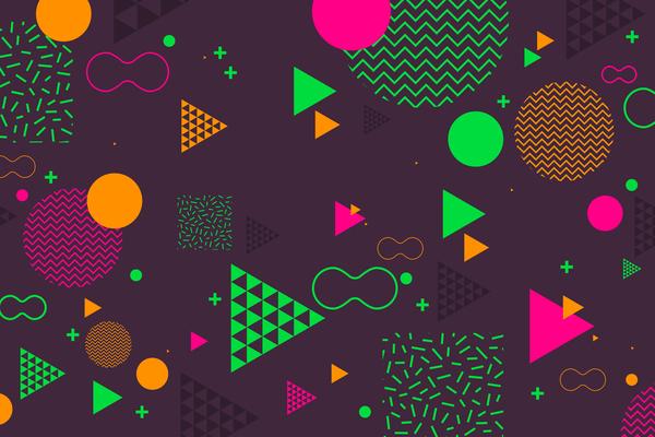 formes géométriques fashion combinaison