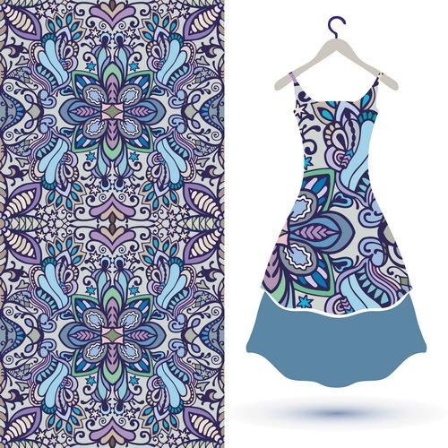Stoff nahtlos mode Kleid Frauen