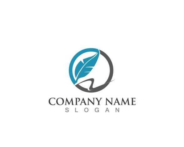 pen logos feather company
