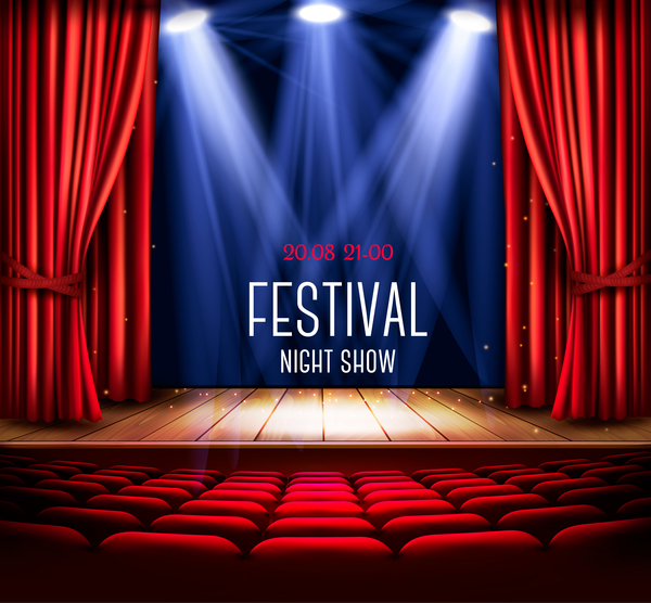 Vorhang rot Licht festival
