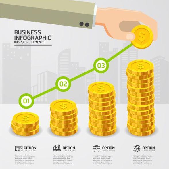 Infografiken Industrie Finanz-