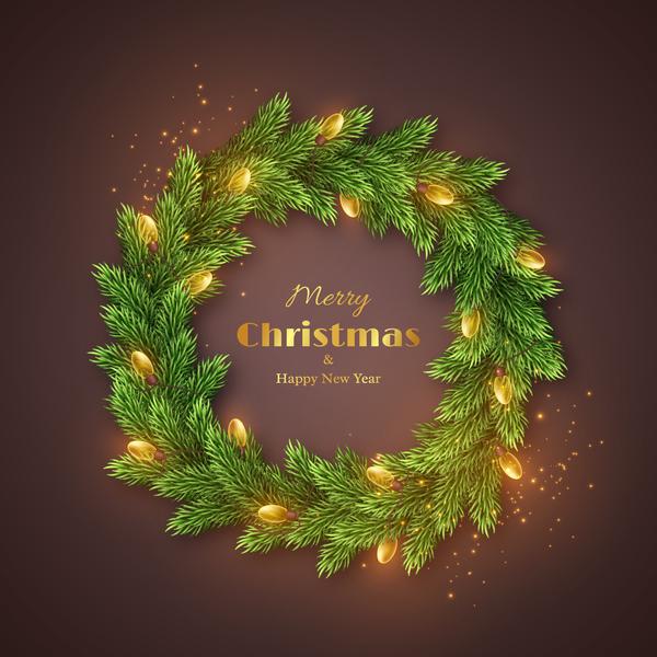 Zweige Weihnachten Urlaub silvester Kranz