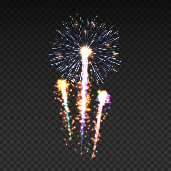 glänzend Feuerwerk Effekt