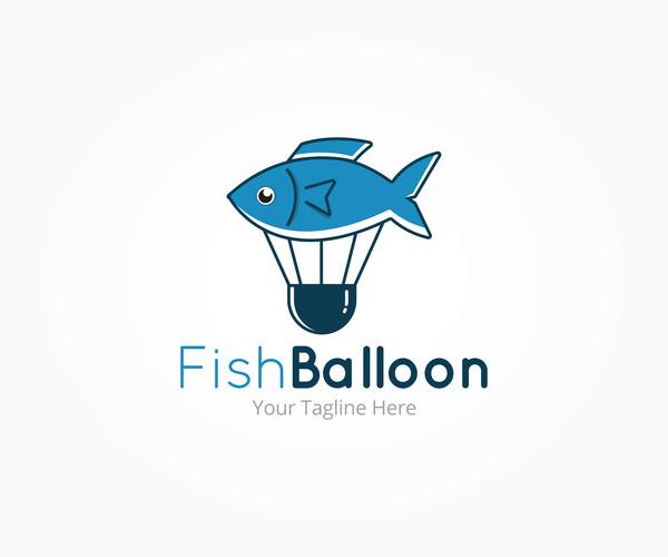 logotyp fisk ballong