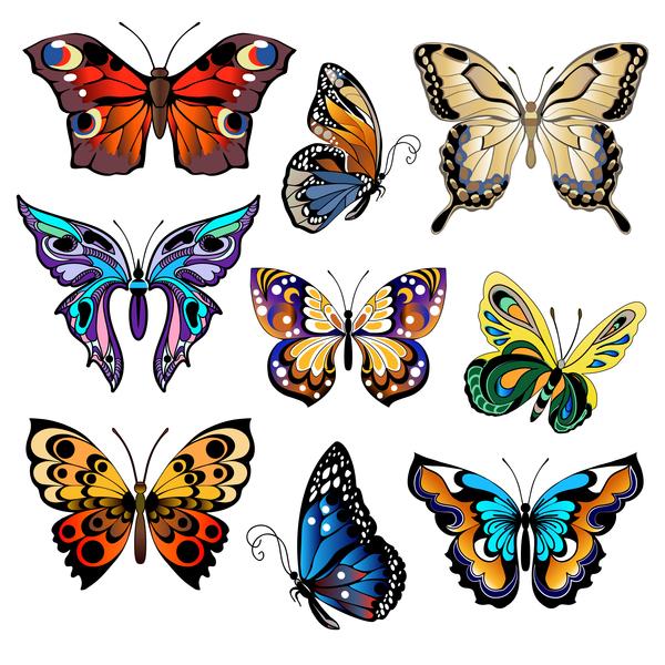 Papillons floral décoratifs