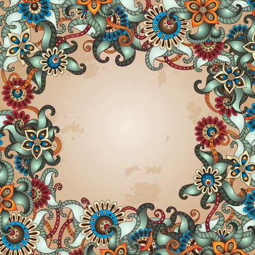 vintage floral encadrer décoratifs