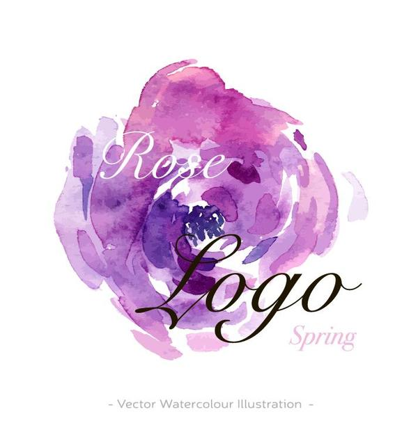 logo fleur Aquarelle
