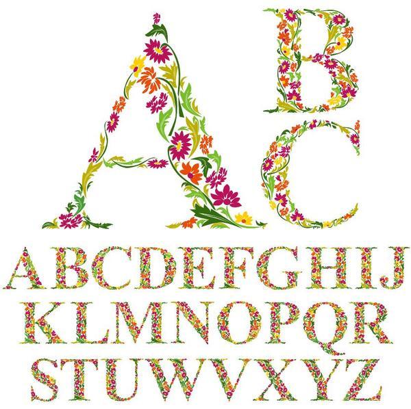 Fiore arredamento Alfabeto