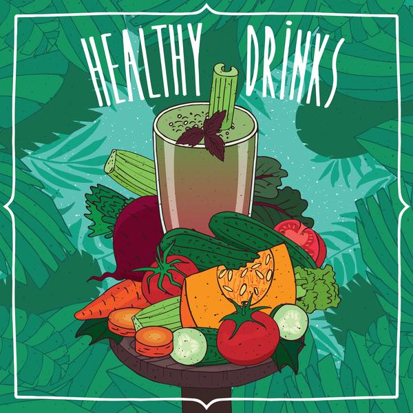 juice frukter frisk affisch
