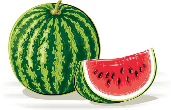 watermelon Ripe Fresh juicy