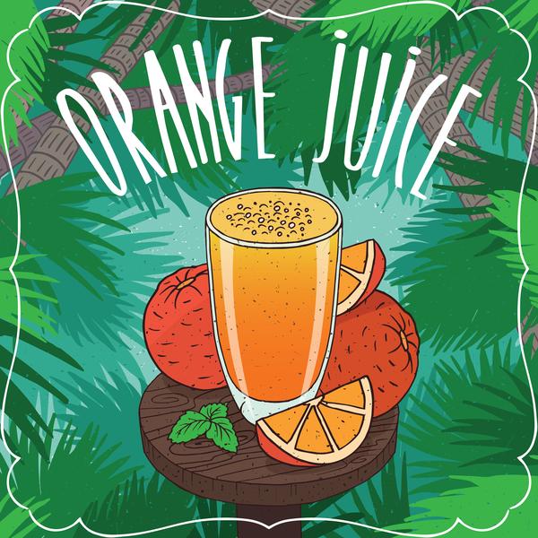 Succo di frutta poster Fresco arancione