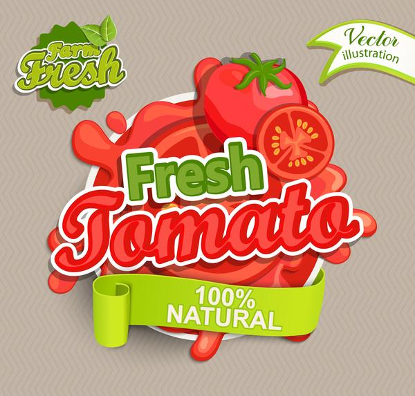 tomat Färska etikett