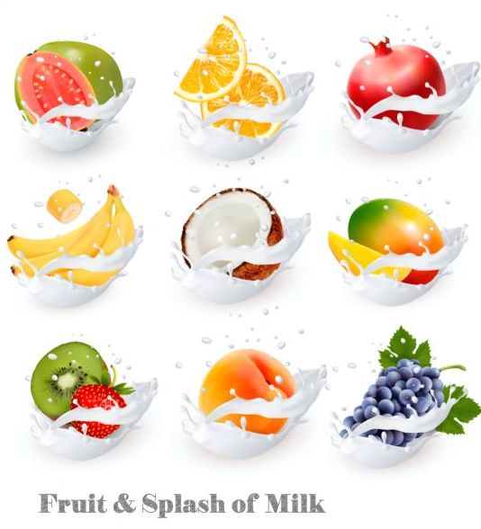 splash lait fruits