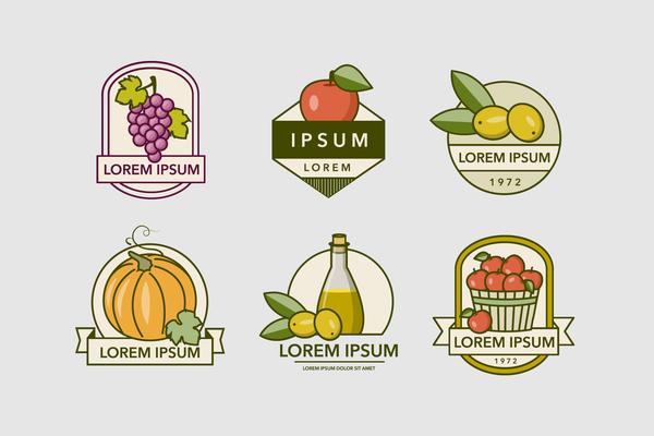 vintage Fruttate etichette
