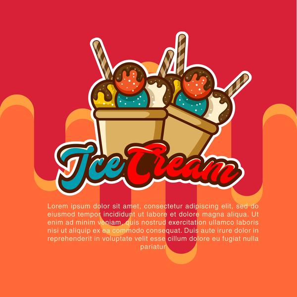 poster ice fruity cream