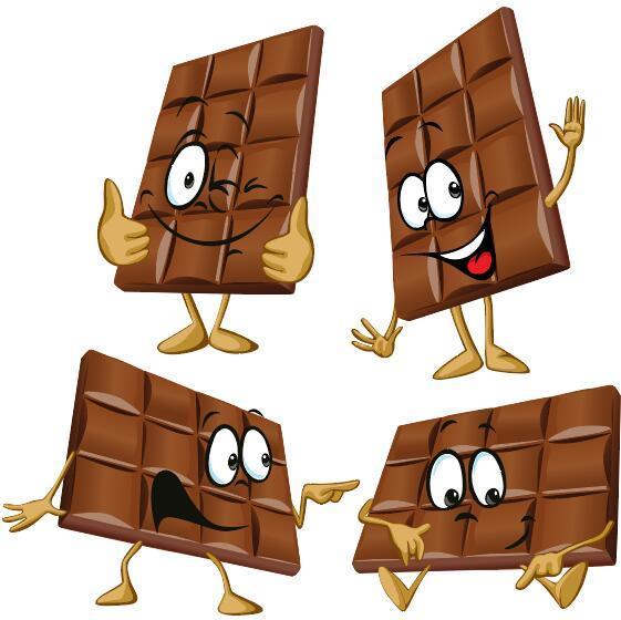 divertente del fumetto cioccolato