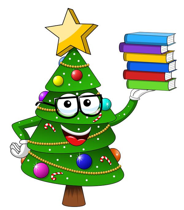 Natale divertente cartoni animati albero