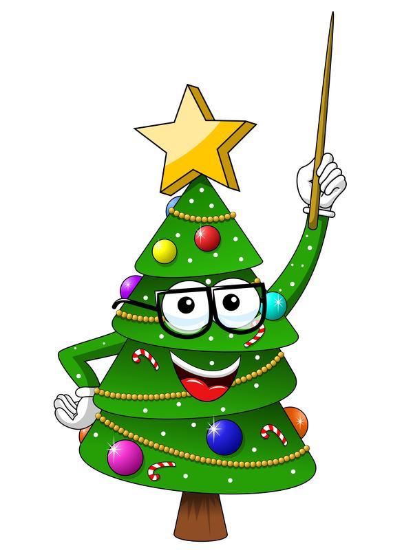 Weihnachten lustig cartoon Baum