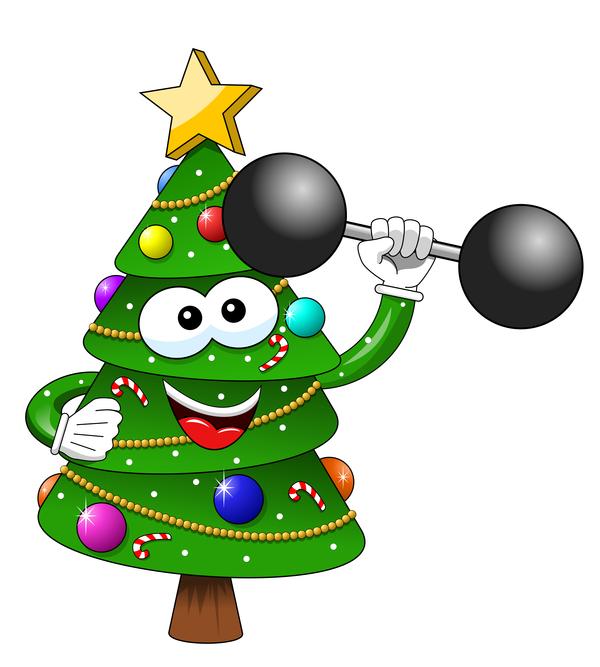 träd tecknad rolig jul