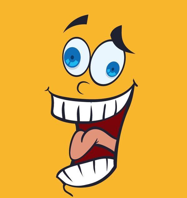lustig Gesicht cartoon Ausdruck