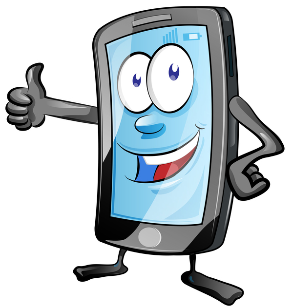 telefono mobile divertente cartone animato